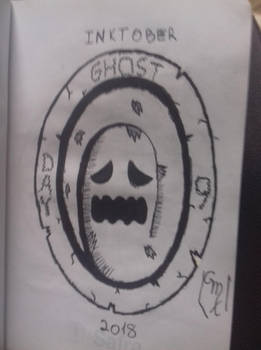 Inktober 2018: Day 9- Ghost by Maxirider