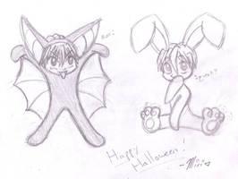 Lil Gundam Wing Halloween by PrettyKitty