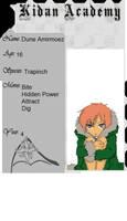 Kidan Academy App: Dune Amirmoez by MatsuKami