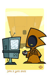 Jawa and a Gonk Droid by Montygog
