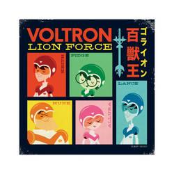 Voltron Lion Force by Montygog