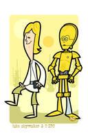 Luke n' C-3PO by Montygog