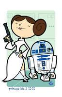 Leia n' R2-D2 by Montygog