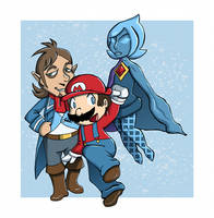 Mario, Linebeck and Fi by Butterscotch25