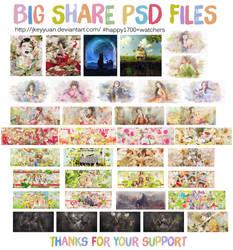[BIG SHARE PSD #2] HAPPY 1700+ Watchers by JKeyYuan