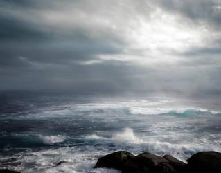 STORM AT SEA BG STOCK II by ArwenArts