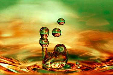 WATERING PLACE DROP by ArwenArts