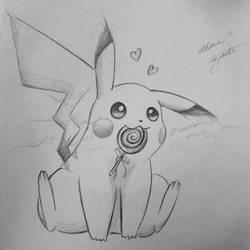 Pokemon Pikachu - Quick Drawing by SereneSeptember