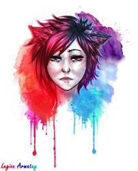 [OC] Lylian - Watercolor effect by LegionArmatay