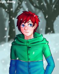 Cute Boi in a snowy forest by LegionArmatay