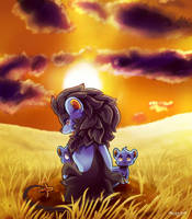 Luxray Family by Noodleteeth