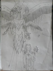 Contest Entry: Girl and her Chimera by Martinkarovic