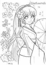 Lady in Kimono by Khateerah