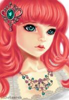 Girl Portrait CG by Khateerah