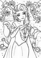 Elsa artline by Khateerah