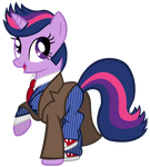 Twilight Sparkle as the 10th Doctor by CloudyGlow