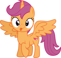 Alicorn Scootaloo by CloudyGlow