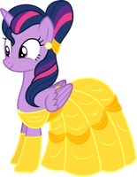 Twilight Sparkle as Belle by CloudyGlow