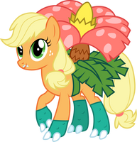 Applejack as Venusaur by CloudyGlow