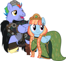 Bow Hothoof and Windy Whistles Brave by CloudyGlow