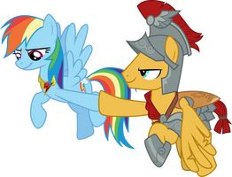 Rainbow Dash and Flash Magnus by CloudyGlow