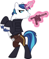 Shining Armor as Han Solo by CloudyGlow