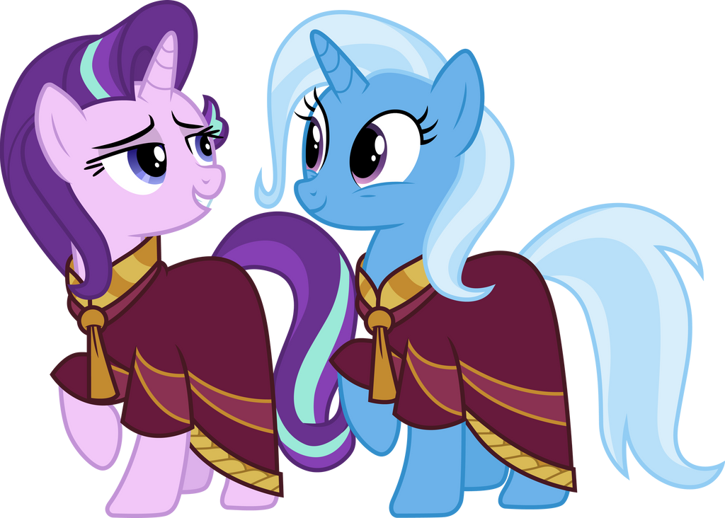 starlight_glimmer_and_trixie_in_robes_by