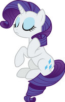 Rarity sitting pretty by CloudyGlow