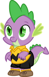 Spike as Charlie Brown by CloudyGlow