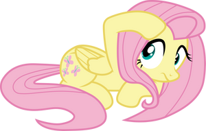 Cowering Fluttershy by CloudyGlow