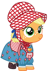 Applejack as Kirsten with bonnet by CloudyGlow