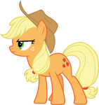 Frowny Applejack by CloudyGlow