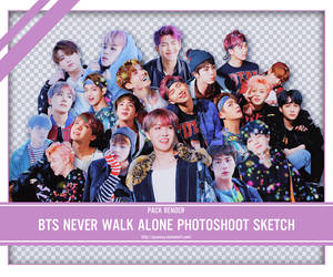 SHARE RENDER BTS YOU NEVER WALK ALONE PHOTOSHOOT by yooncua