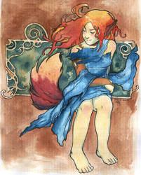 art nouveau - kitsune by morore