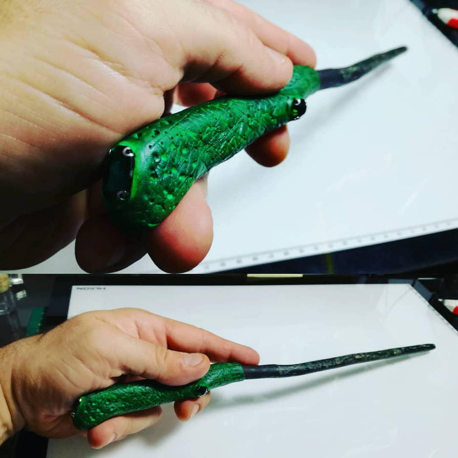 personal slytherin wand by gotikhouse on deviantart