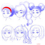 Hair Study by Seraphinae