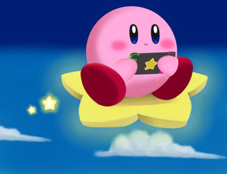 Kirby on the Switch by Seraphinae