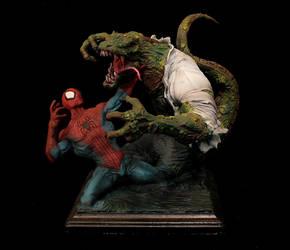 Spiderman vs the Lizard new by FritoFrito