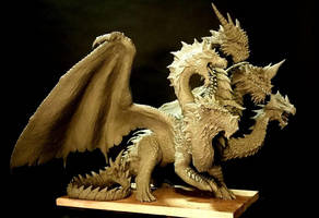 5 headed dragon statue WIP by FritoFrito