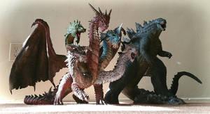 Dragon and Godzilla by FritoFrito