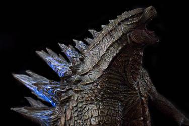 1/100th Scale Godzilla 2014 Statue up close shoot by FritoFrito