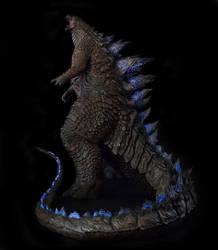 1/100th Scale Godzilla 2014 Statue full body by FritoFrito