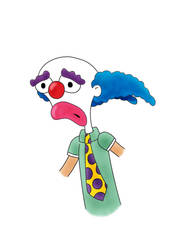 Clarence the Clown by STRUDELL
