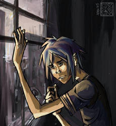 Depressed 2-D at the window by ovolon