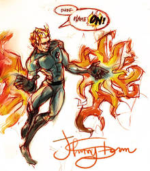 Johnny Storm by ovolon