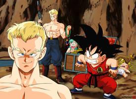 Son Goku vs Blue Shogun by Nostal
