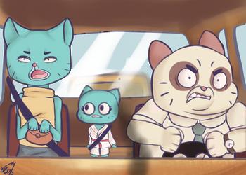 Gumball Scene :3 by OncinhaGabi