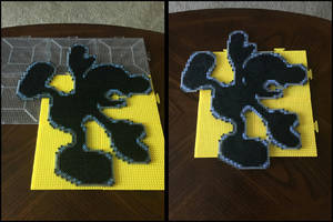 Mr. Game and Watch Perler Bead Art by jnjfranklin