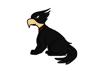 Cat Tokoyami by TinyWindowless