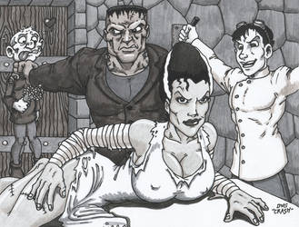 Monsters and Maidens Frankenstein by Crash2014